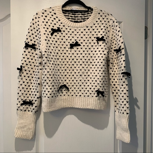 Zara Bow and Dot Sweater